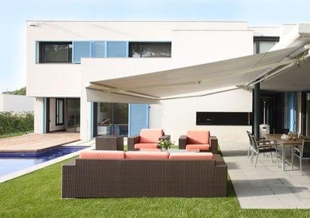 awning and pool