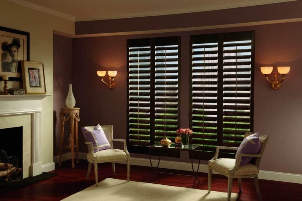 plantation shutter sitting room