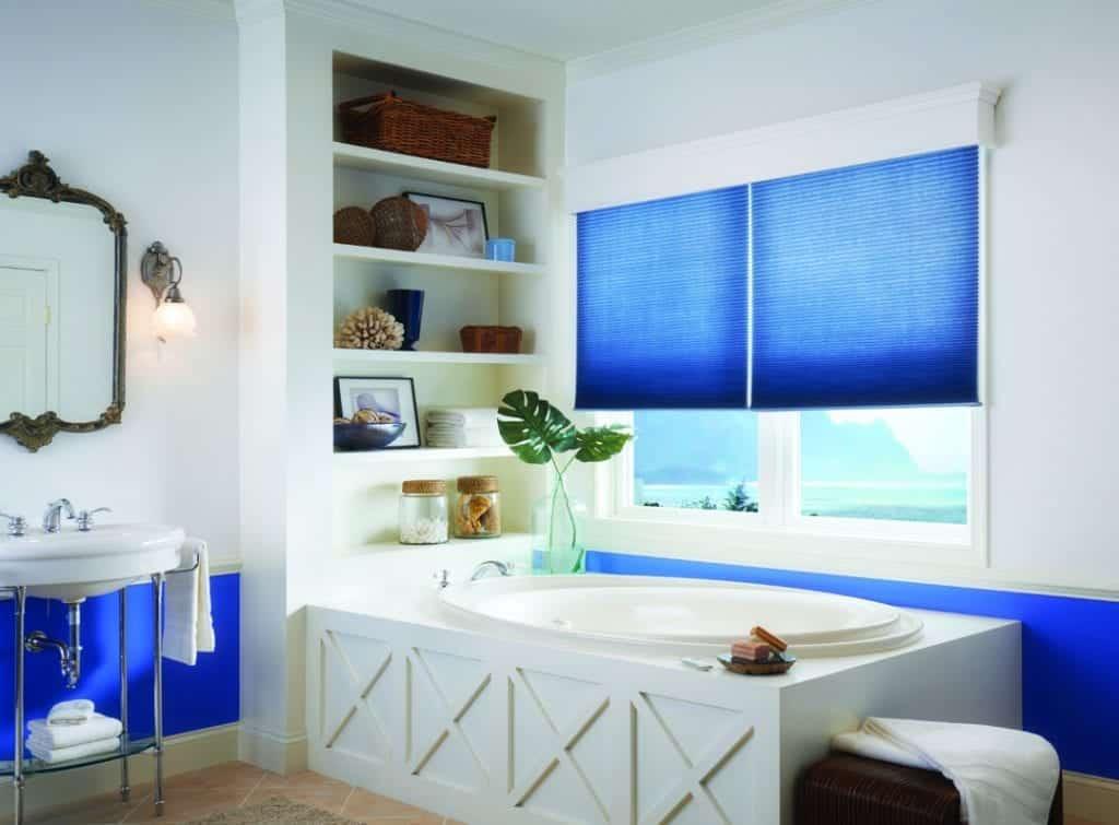 blue bathtub shades