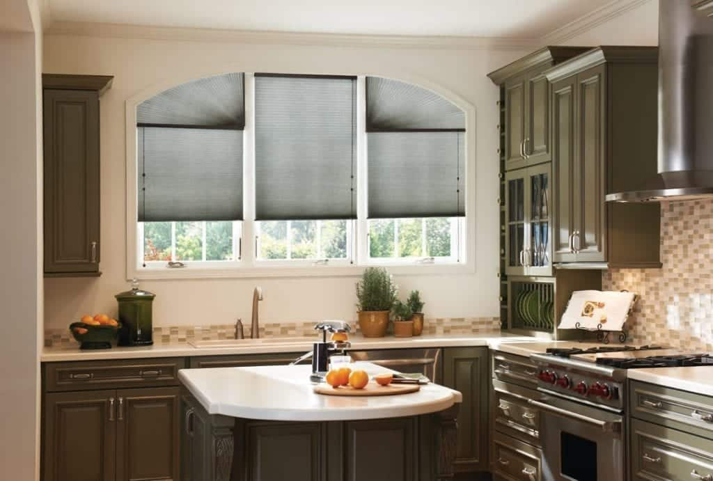 cellular shades above sink