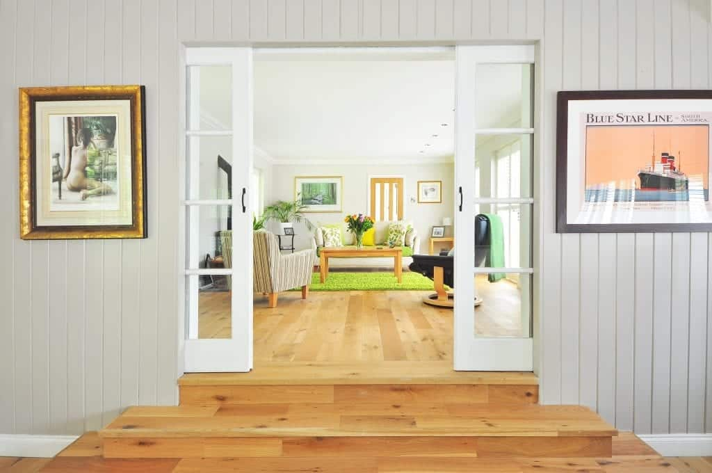 wooden floors living area