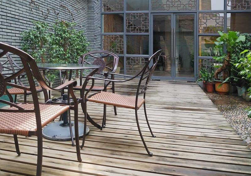 wooden floor patio